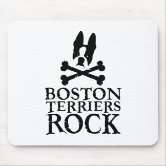 Boston Terriers Rock Mouse Mat