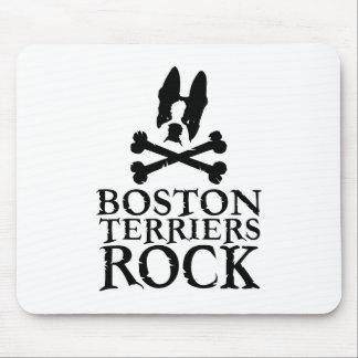 Boston Terriers Rock Mouse Mat