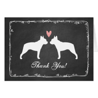 Boston Terriers Wedding Thank You Card