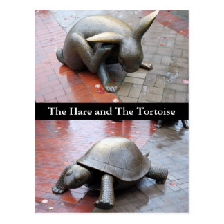 Boston - The Hare and The Tortoise Postcard