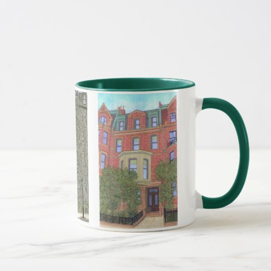 Boston Townhouses Mug