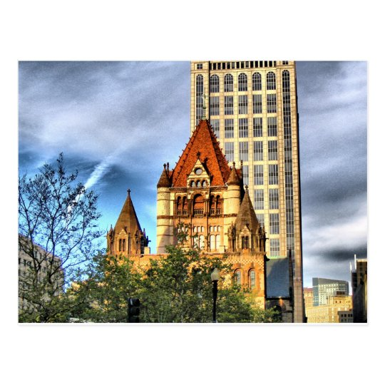 Boston Trinity Church Postcard