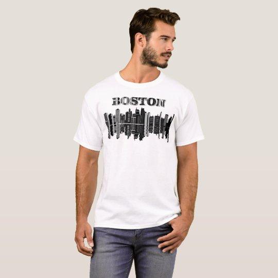 """Boston"" Typography T-Shirt"