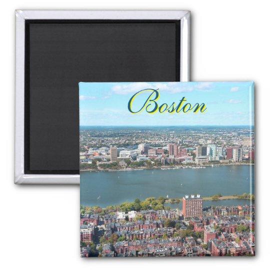 Boston, USA square magnet