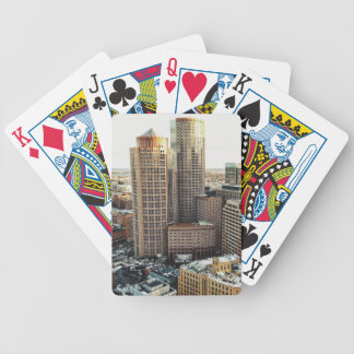 Boston view bicycle playing cards