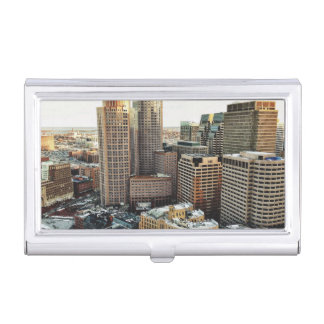 Boston view business card holder