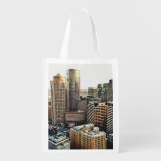Boston view reusable grocery bag
