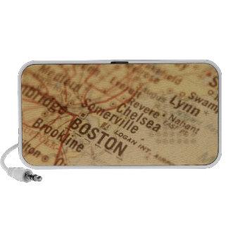 BOSTON Vintage Map Doodle Mini Speaker