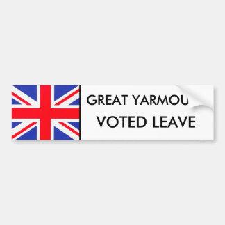 Boston Voted Leave Bumper Sticker