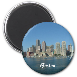 Boston Waterfront 6 Cm Round Magnet