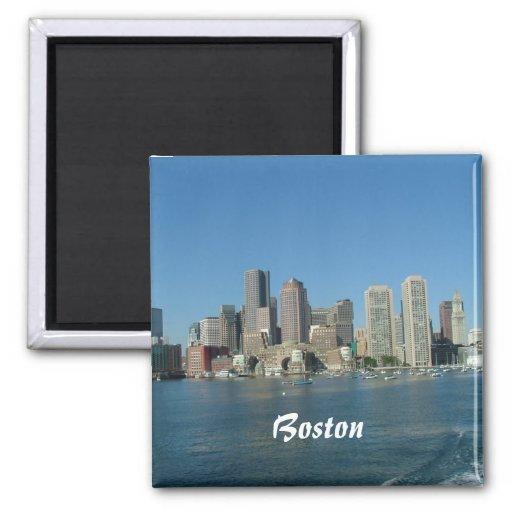 Boston Waterfront Fridge Magnet