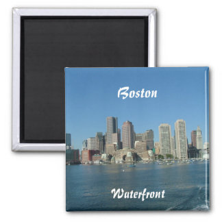 Boston Waterfront Square Magnet