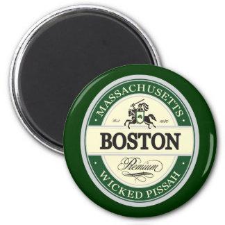 boston - wicked pissah 6 cm round magnet