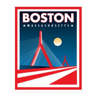 Boston Zakim Bridge Postcard