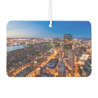 Boston's skyline at dusk car air freshener