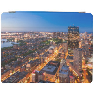 Boston's skyline at dusk iPad cover