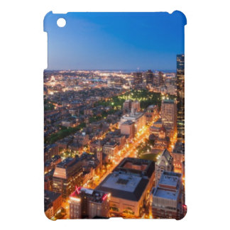 Boston's skyline at dusk iPad mini case