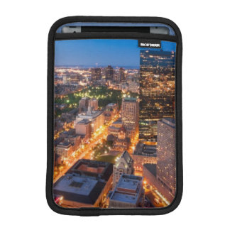 Boston's skyline at dusk iPad mini sleeve