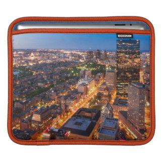 Boston's skyline at dusk iPad sleeve
