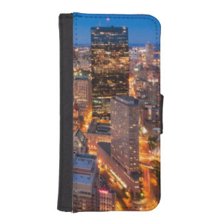 Boston's skyline at dusk iPhone SE/5/5s wallet case
