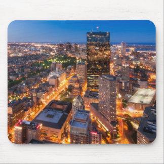 Boston's skyline at dusk mouse pad