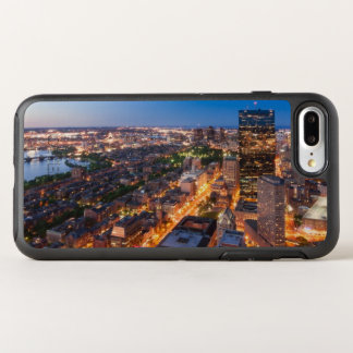 Boston's skyline at dusk OtterBox symmetry iPhone 8 plus/7 plus case