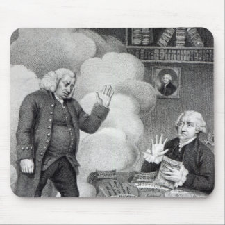 Boswell and the Ghost of Samuel Johnson Mouse Mat