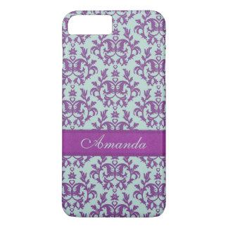Botanic damask purple emerald case