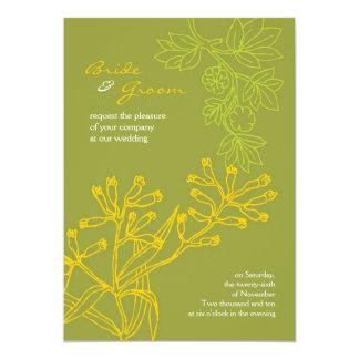 Botanica (Fern Green) Wedding 13 Cm X 18 Cm Invitation Card