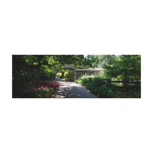 Botanica Gardens Shaded Path Stretched Canvas Prints