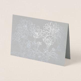 Botanica line art chrysanthemum flower card