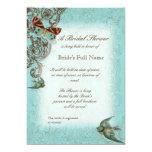 Botanica Wedding Bridal Shower Invite - Aqua Blue