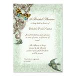 Botanica Wedding Bridal Shower Invite - Blue Green