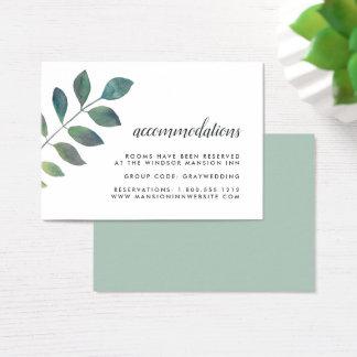 Botanica Wedding Hotel Accommodation Cards