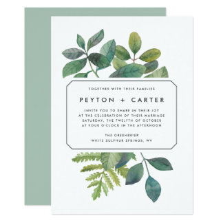 Botanica Wedding Invitation