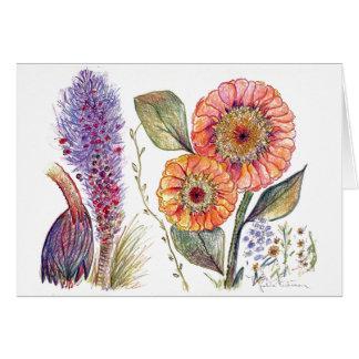 botanical 49 Fall Flowers All Purpose Card