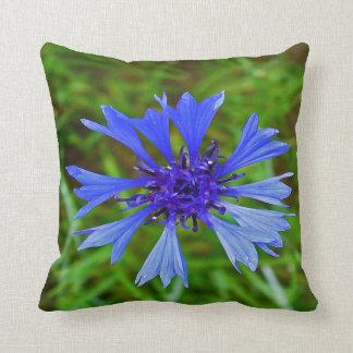 Botanical #8 blue cornflower throw cushions