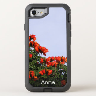 Botanical African Tulip Tree Photo any Text OtterBox Defender iPhone 7 Case