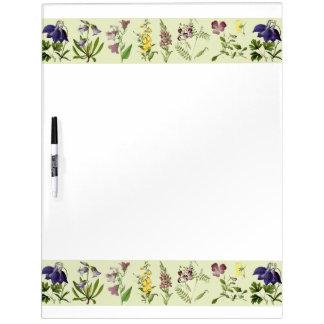 Botanical Alpine Flowers Dry Erase Board