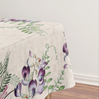 Botanical Alpine Sweet Pea Flowers Tablecloth