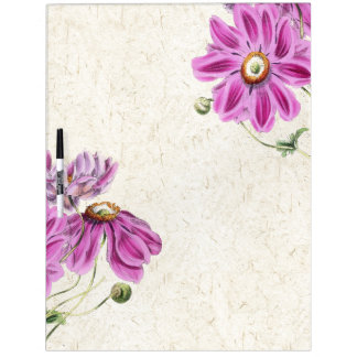 Botanical Anemone Flowers Floral Board Dry-Erase Whiteboards