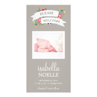 BOTANICAL BABY | BIRTH ANNOUNCEMENT PHOTO CARD TEMPLATE
