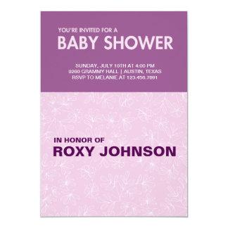 botanical baby shower 13 cm x 18 cm invitation card