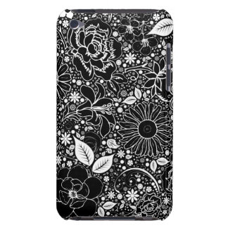 Botanical Beauties Black iPod Touch 4g Case iPod Case-Mate Case