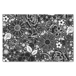 Botanical Beauties-Black-White-TISSUE WRAP PAPER