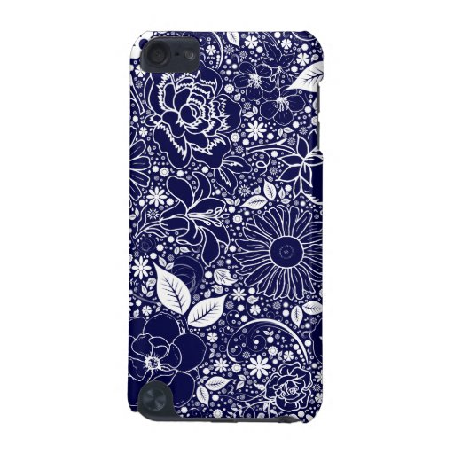 Botanical Beauties Med.Blue iPod Touch 5g Case