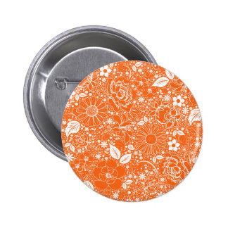 Botanical Beauties Orange Button