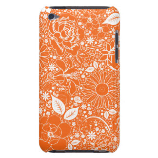 Botanical Beauties Orange iPod Touch 4g Case iPod Touch Cover