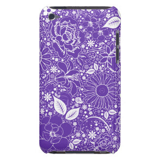 Botanical Beauties Purple, Ipod Touch 4g Case Barely There iPod Covers