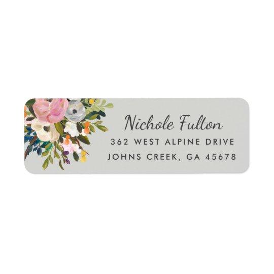 Botanical Bliss Custom Colour Return Address